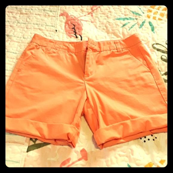 GAP Pants - Boyfriend roll up melon colored shorts sz 4